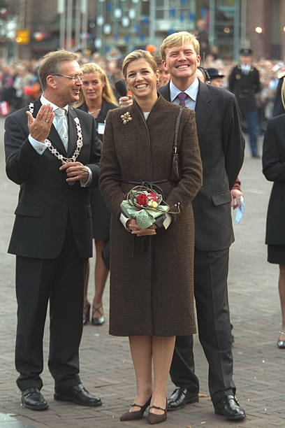 (Original Caption) Prince Willem Alexander with his future wife Maxima Zorreguieta taking part in the Joyous Entry of the province of Zeeland, Netherlands. (Photo by THIERRY ORBAN/Sygma via Getty Images)